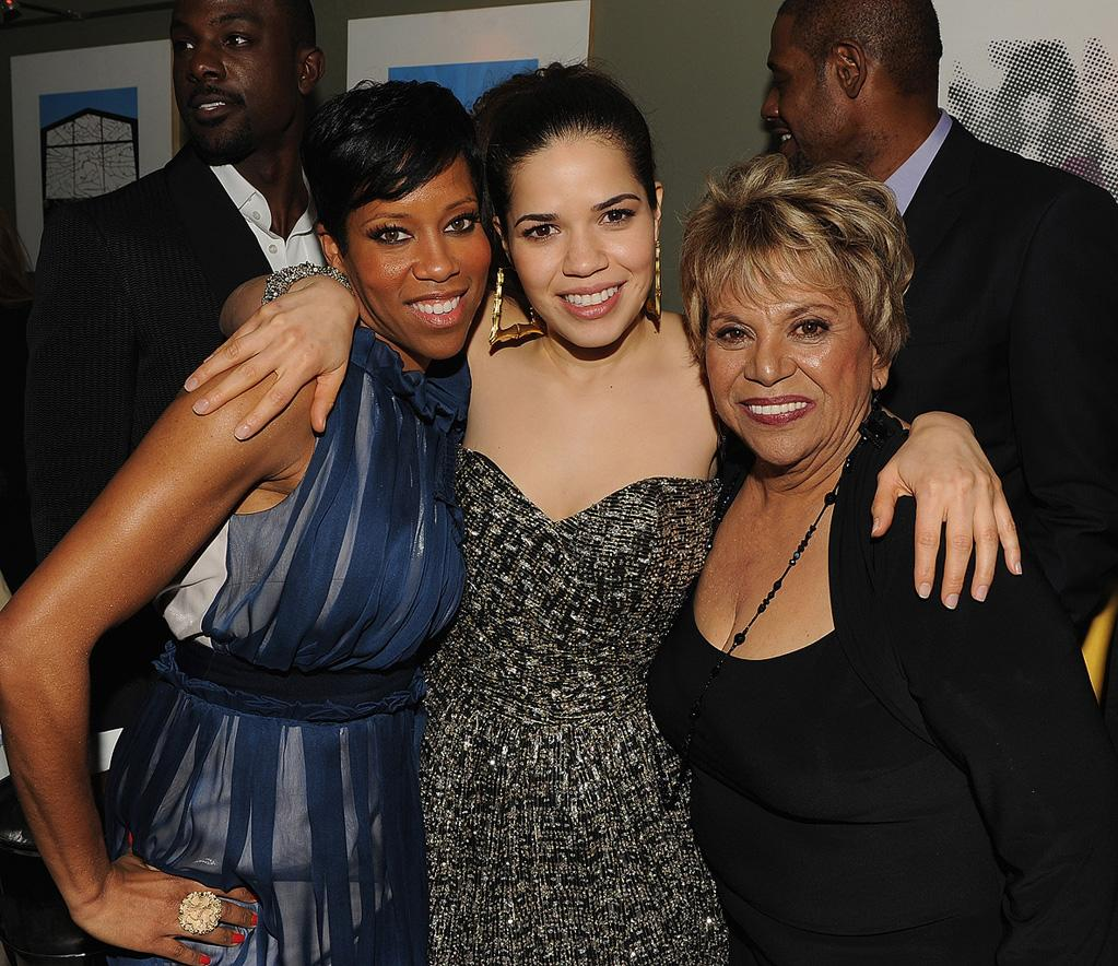 """<a href=""""http://movies.yahoo.com/movie/contributor/1800021532"""">Regina King</a>, <a href=""""http://movies.yahoo.com/movie/contributor/1807809245"""">America Ferrera</a> and <a href=""""http://movies.yahoo.com/movie/contributor/1800101739"""">Lupe Ontiveros</a> at the New York City premiere of <a href=""""http://movies.yahoo.com/movie/1810093971/info"""">Our Family Wedding</a> - 03/09/2010"""