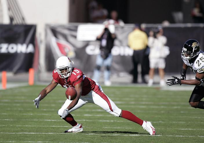 """<h1 class=""""title"""">Jacksonville Jaguars vs Arizona Cardinals - November 27, 2005</h1> <div class=""""caption""""> Wide receiver LeRon McCoy played in the NFL from 2005 to 2008. </div> <cite class=""""credit"""">Photo: Mike Moore/Getty Images</cite>"""
