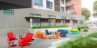 The Exterior Of The DWR Nashville Studio Features Outdoor Seating By Loll  Designs. Rendering Courtesy