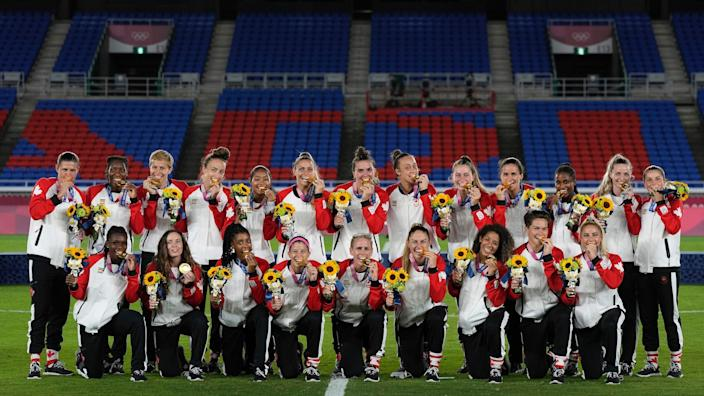 Canada women's national soccer team wins gold in Tokyo.