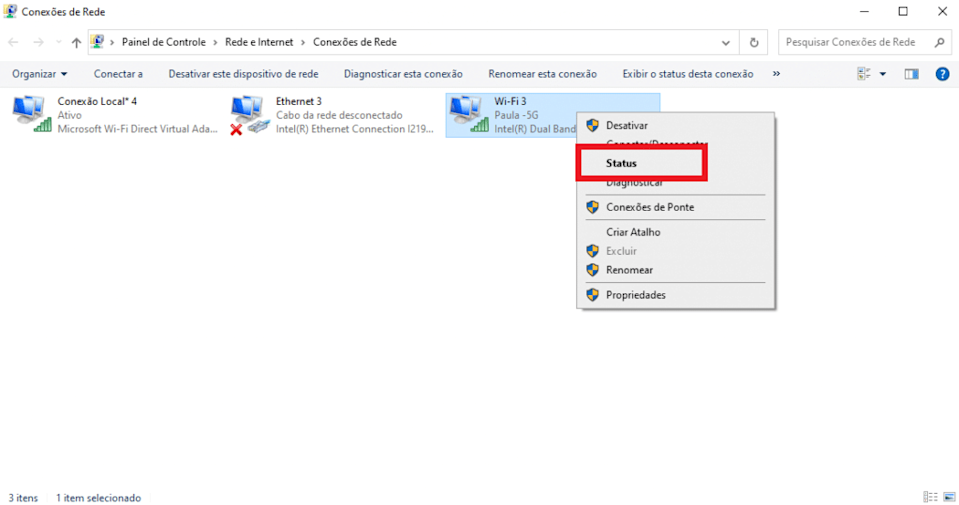 Print das configurações do Windows 10