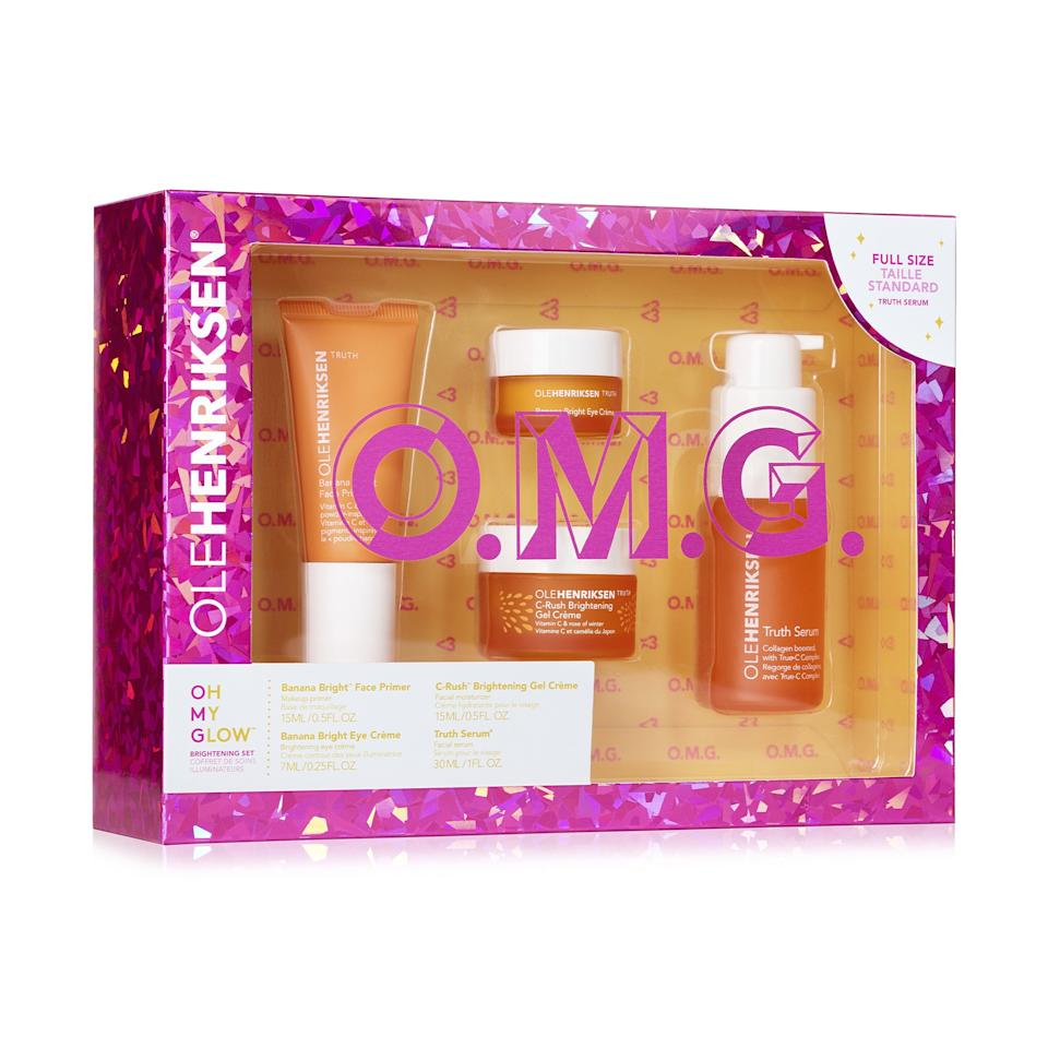 """<p>A few years back, we made a New Year's resolution to tackle my dark spots, and we're retroactively angry that no one gave us this brightening-focused kit as a gift. It contains Ole Henriksen's <a href=""""https://www.allure.com/gallery/get-brighter-skin-vitamin-c?mbid=synd_yahoo_rss"""">vitamin C-infused</a> products, including serum, moisturizing, eye cream, and face primer. Each product is formulated to minimize dark spots and increase radiance, ensuring your loved one will have a very bright 2020.</p> <p><strong>$50</strong> (<a href=""""https://shop-links.co/1688901532177092122"""" rel=""""nofollow"""">Shop Now</a>)</p>"""