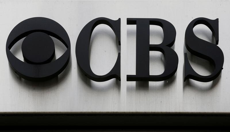 "The CBS ""eye"" and logo are seen outside the CBS Broadcast Center on West 57th St. in Manhattan, New York"
