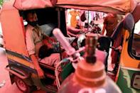 Desperate Covid-19 patients are flocking to a gurdwara in Ghaziabad that is providing oxygen, amid a shortage of supply
