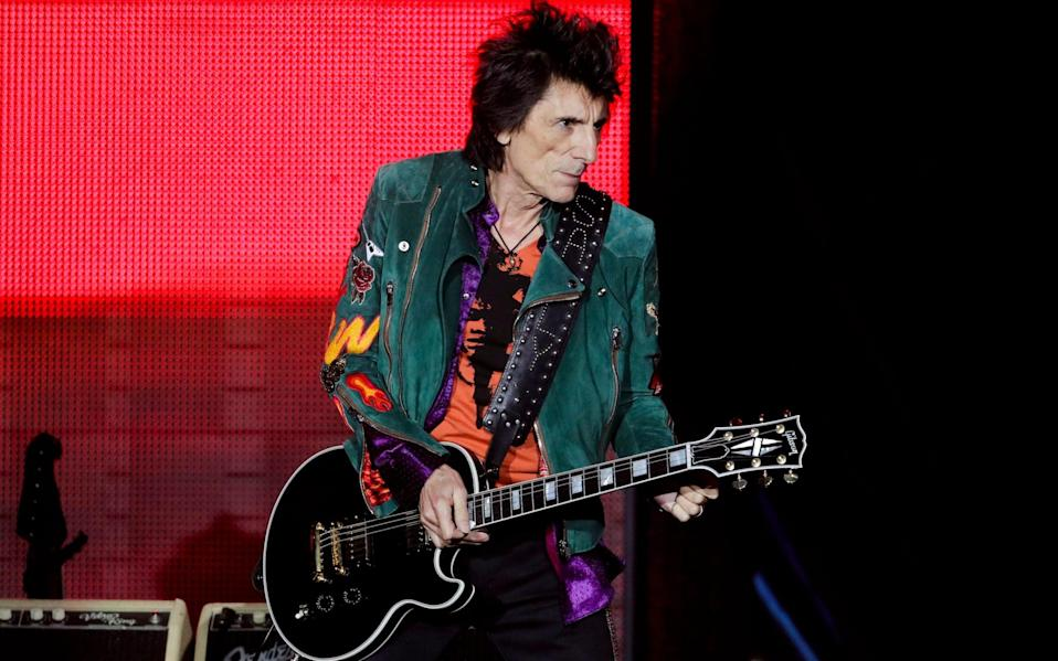 Ronnie Wood may be not be what people expect when they think of knitting  - Markus Schreiber/AP