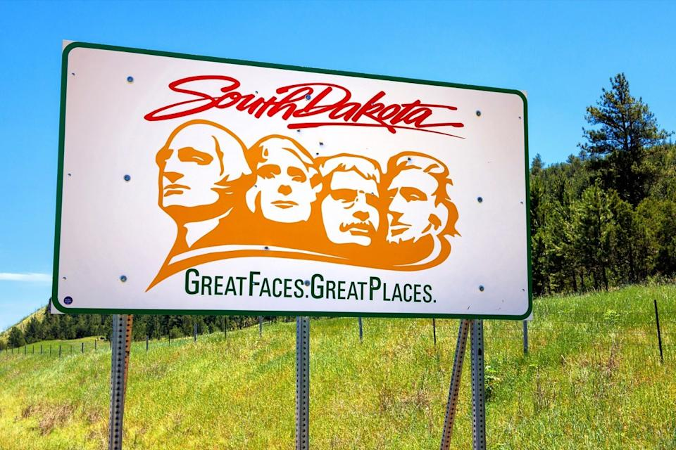 south dakota state welcome sign