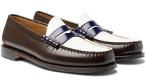 """<p><strong>G.H. Bass & Co.</strong></p><p>mrporter.com</p><p><strong>$119.00</strong></p><p><a href=""""https://go.redirectingat.com?id=74968X1596630&url=https%3A%2F%2Fwww.mrporter.com%2Fen-us%2Fmens%2Fproduct%2Fgh-bass-co%2Fshoes%2Floafers%2Fweejuns-heritage-larson-colour-block-leather-penny-loafers%2F30049528927132706&sref=https%3A%2F%2Fwww.esquire.com%2Fstyle%2Fmens-fashion%2Fg35083025%2Fmr-porter-end-of-season-sale-2020%2F"""" rel=""""nofollow noopener"""" target=""""_blank"""" data-ylk=""""slk:Shop Now"""" class=""""link rapid-noclick-resp"""">Shop Now</a></p>"""