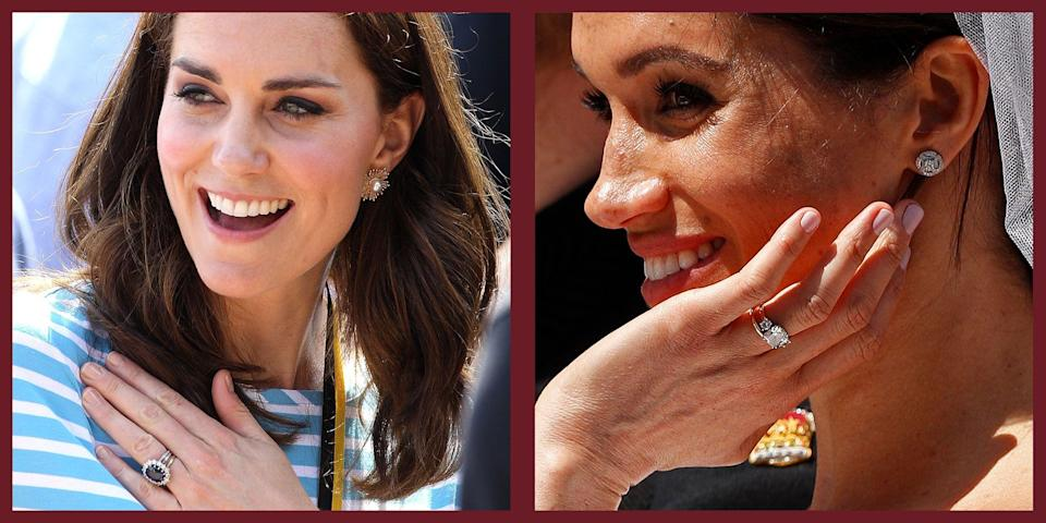 """<p class=""""body-dropcap"""">There's a longstanding rumor that the British royal women must maintain neutral nails. Meghan, Duchess of Sussex, once even <a href=""""https://www.townandcountrymag.com/society/tradition/a25935512/meghan-markle-royal-protocol-nail-polish-cirque-du-soleil/"""" rel=""""nofollow noopener"""" target=""""_blank"""" data-ylk=""""slk:caused a flurry of scandal"""" class=""""link rapid-noclick-resp"""">caused a flurry of scandal</a> for simply wearing dark nail polish on her toes. However, this assumption is false. """"There are no books, no rules, about what color nail polish a royal can wear,"""" Marlene Koenig, a historian and writer of the blog, """"<a href=""""http://royalmusingsblogspotcom.blogspot.com/"""" rel=""""nofollow noopener"""" target=""""_blank"""" data-ylk=""""slk:Royal Musings"""" class=""""link rapid-noclick-resp"""">Royal Musings</a>"""" told <em><a href=""""https://www.townandcountrymag.com/society/tradition/a25935512/meghan-markle-royal-protocol-nail-polish-cirque-du-soleil/"""" rel=""""nofollow noopener"""" target=""""_blank"""" data-ylk=""""slk:Town & Country"""" class=""""link rapid-noclick-resp"""">Town & Country</a></em>.</p><p>But, just because there is no rulebook, does not mean the royal women do not have preferences. Yes, they all tend to wear light pinks and neutral tones on their nails—especially Queen Elizabeth, likely because these options are just more versatile. Another commonality: all of the royal women tend to choose affordable nail polish. While much of royal life is unattainable for the average person, anyone can get royally-approved nails at home. Below, find the royal family's all-time favorite nail polishes. </p>"""