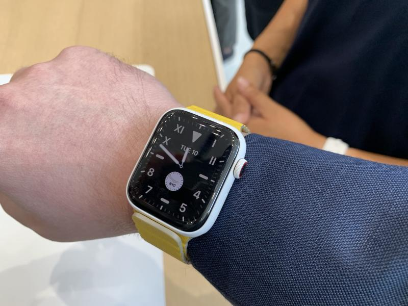 The Apple Watch Series 5 with its always-on display. (Image: Howley)