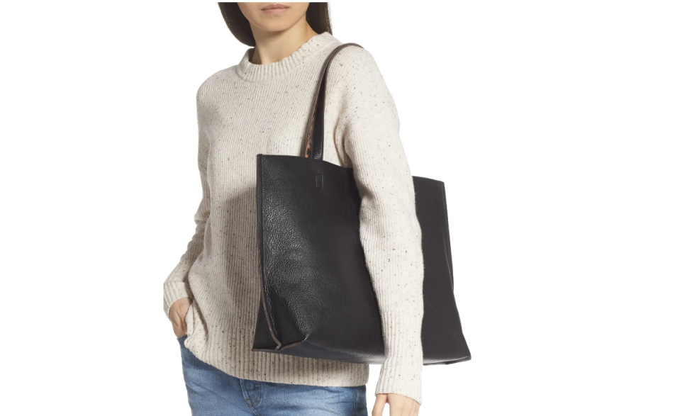 Nordstrom shoppers are losing it over the Reversible Faux Leather Tote & Wristlet from Street Level, which rings in under $50.