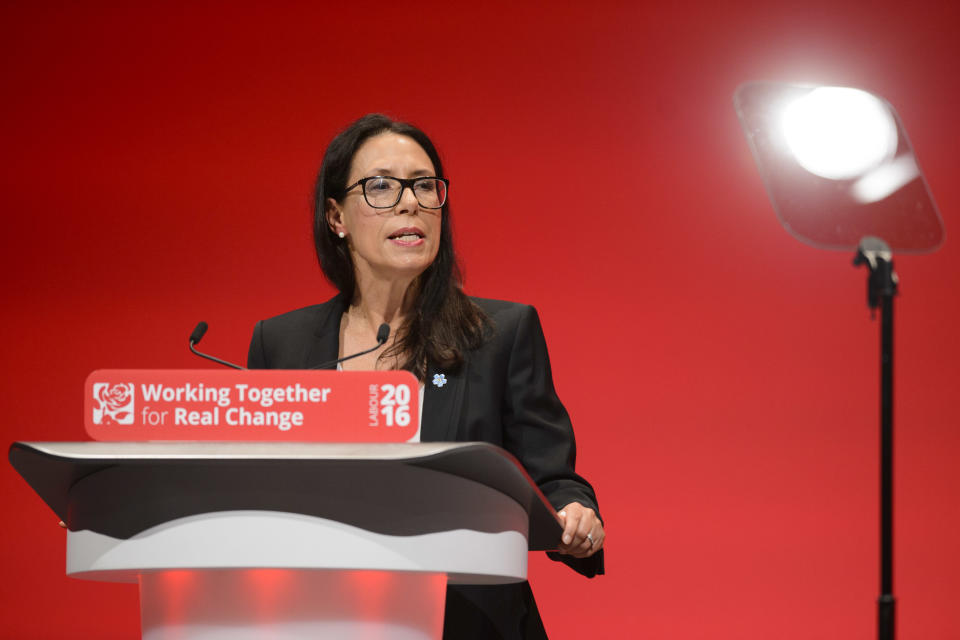 Debbie Abrahams MP, Shadow Secretary of State for Work and Pensions, speaks during the second day of the Labour Party conference in Liverpool. Picture date: Monday September 26, 2016. Photo credit should read: Matt Crossick/ EMPICS Entertainment.