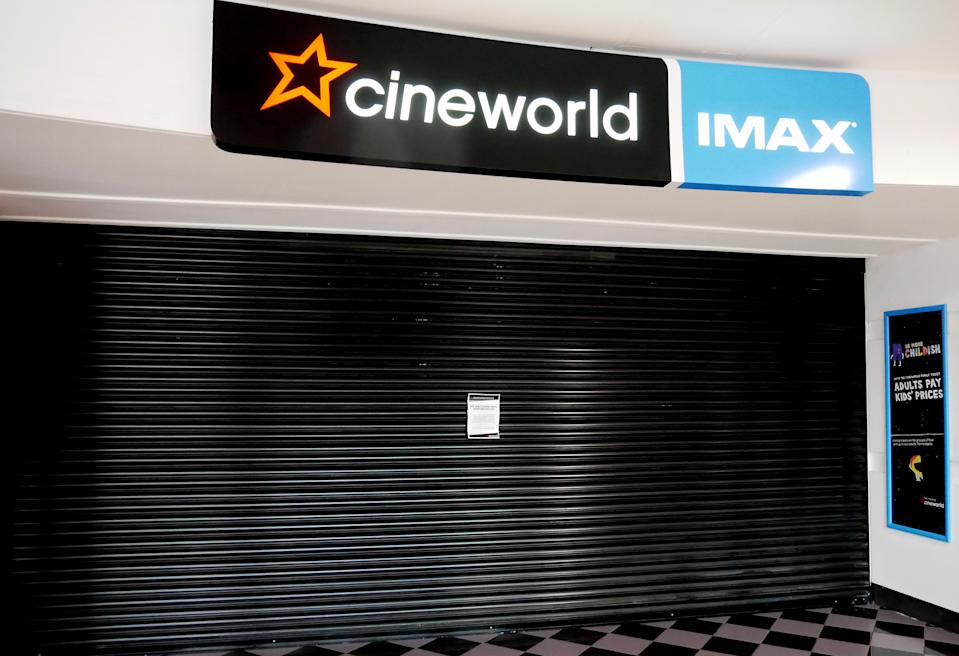 General view of a closed Cineworld IMAX in Nottingham City Centre as businesses close due to the coronavirus outbreak.Photo credit should read: James Warwick/EMPICS Entertainment.