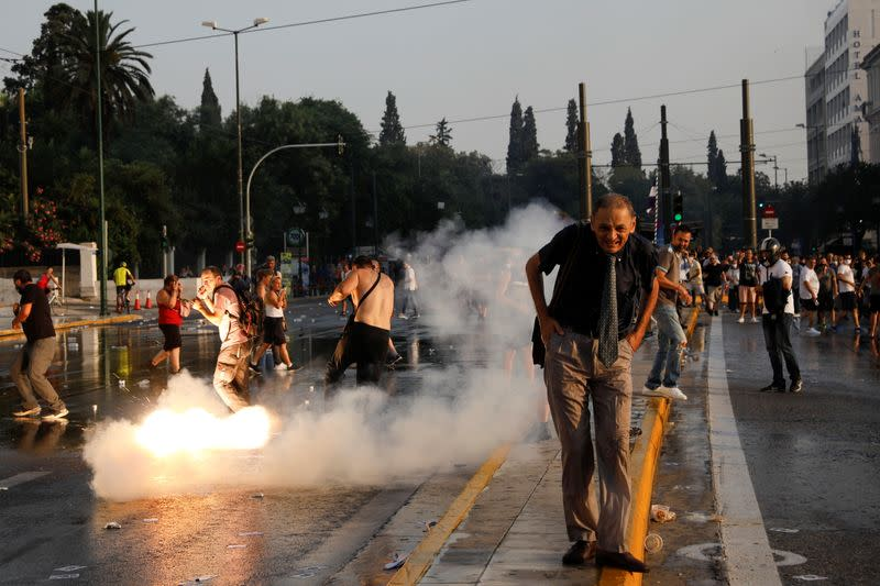 Protest against COVID-19 vaccinations in Athens