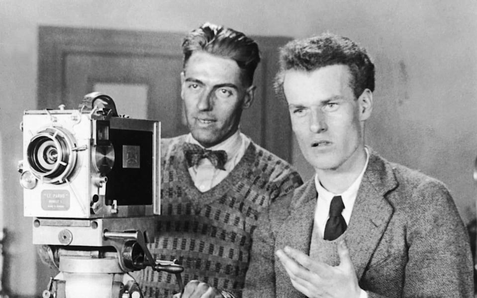 Anthony Asquith (right), son of PM Herbert, became a successful film director - Keystone
