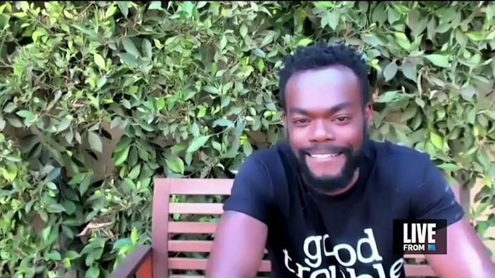 """Emmy n-minated William Jackson Harper in """"E! Countdown to the Red Carpet."""""""