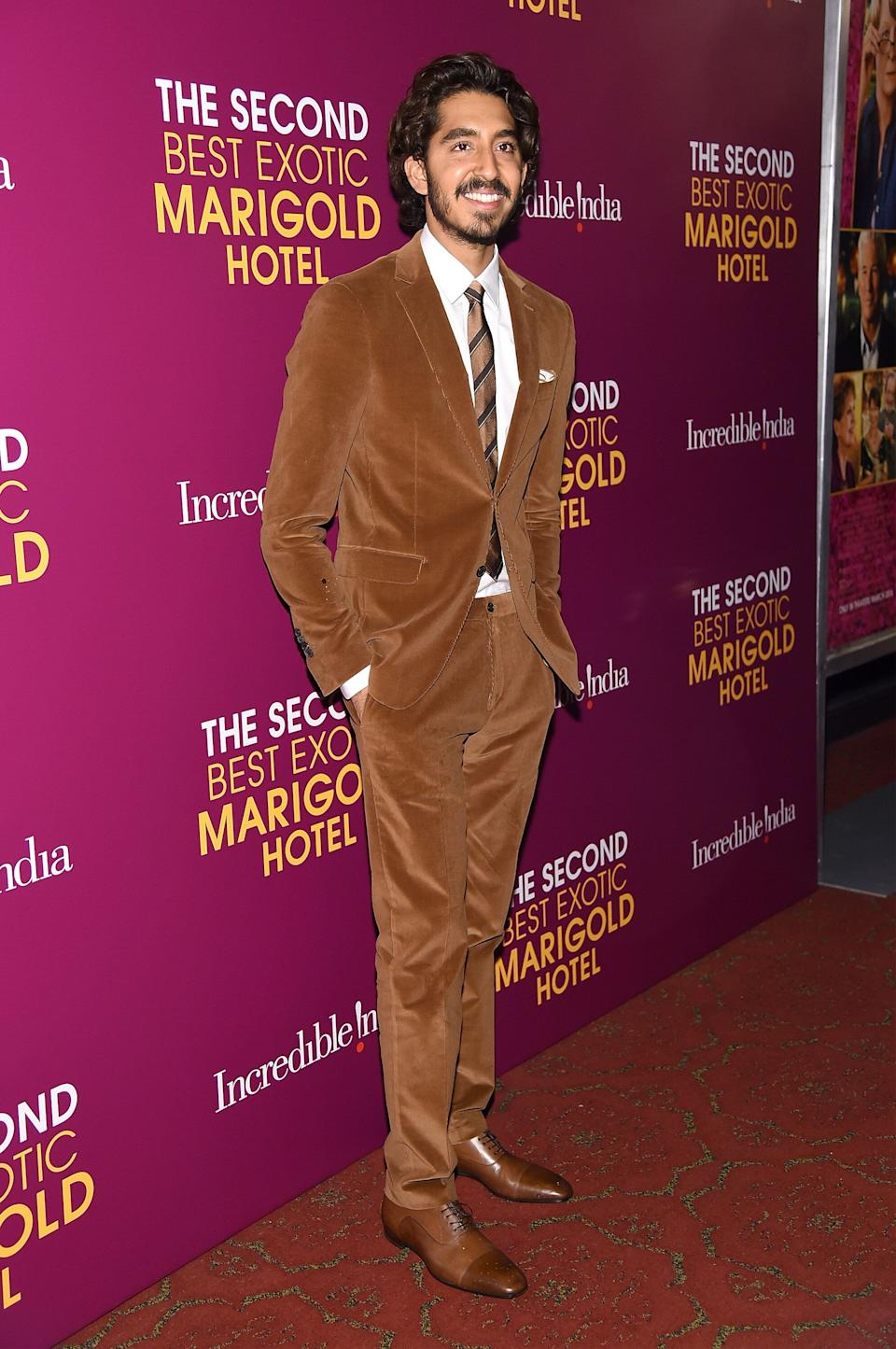 """Patel at the New York premiere of """"The Second Best Exotic Marigold Hotel"""" at the Ziegfeld Theater on March 3, 2015."""