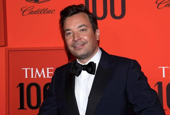 FILE - In this April 23, 2019 file photo, Jimmy Fallon attends the Time 100 Gala in New York. (Photo by Charles Sykes/Invision/AP, File)