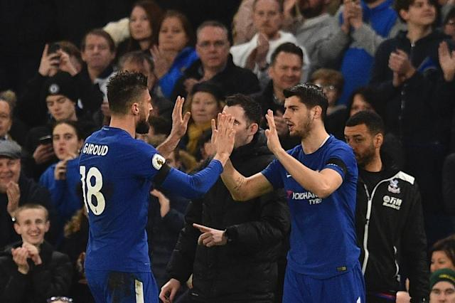 Alvaro Morata has struggled to make the Chelsea team since the arrival of Olivier Giroud and now he has been discarded by Spain (AFP Photo/Glyn KIRK )
