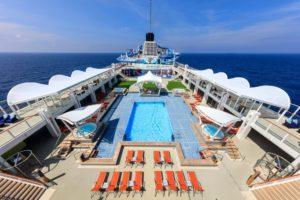 The main pool deck. Photo: Dream Cruises