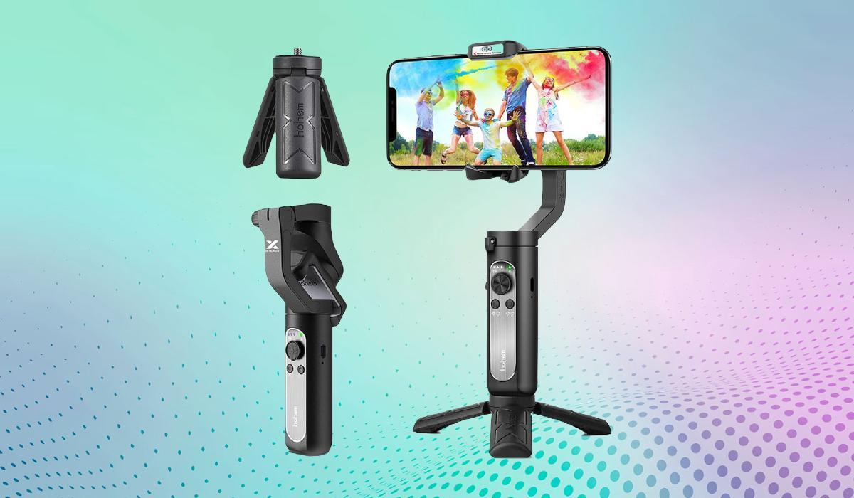 Lights! Camera! Gimbal! The iSteady X works as both a handheld stabilizer and tripod-supported pan-and-scan tool. Absolutely steal at under $30. (Photo: Hohem)