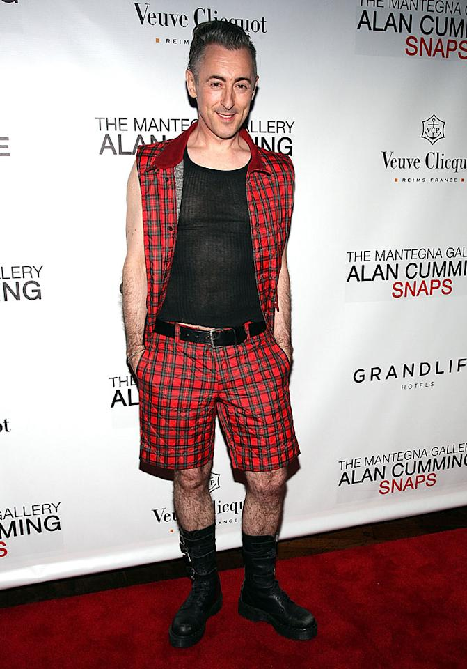 "In addition to hiring a proper stylist, perhaps actor Alan Cumming (""The Good Wife"") should consider manscaping those hirsute stems! (5/1/2012)"