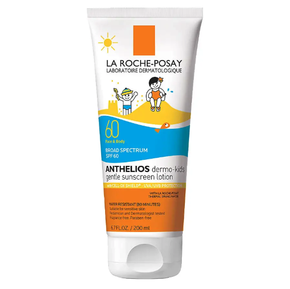 La Roche Posay Anthelios Kids Gentle Sunscreen Lotion for Face and Body SPF 60