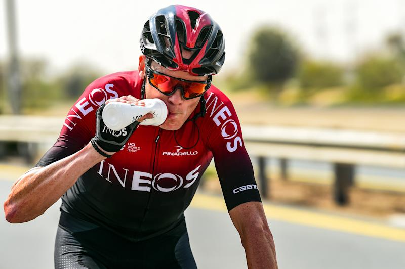 Chris Froome was back in action at the UAE Tour