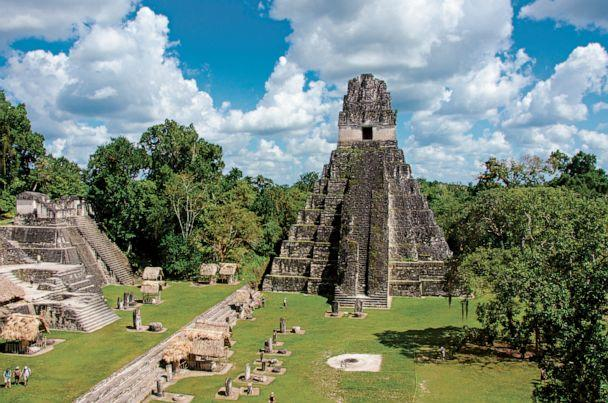 PHOTO: The Temple of the Great Jaguar towers over the main plaza of the ancient Maya city of Tikal. (National Geographic/Simon Dannhauer)