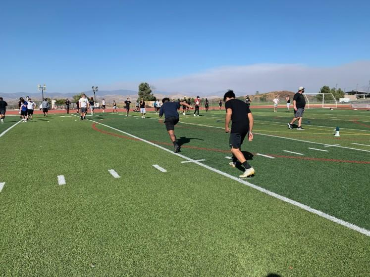 Golden Valley began football conditioning workouts on Monday.
