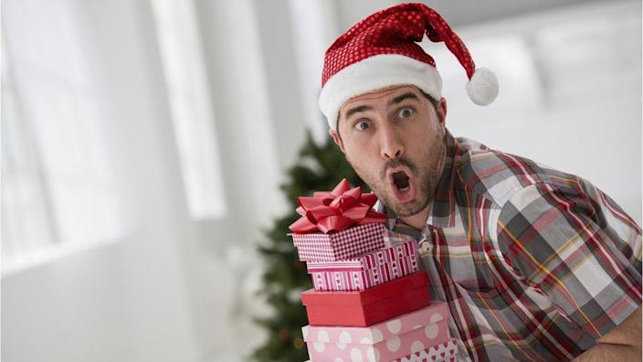 A man surprised by a gift