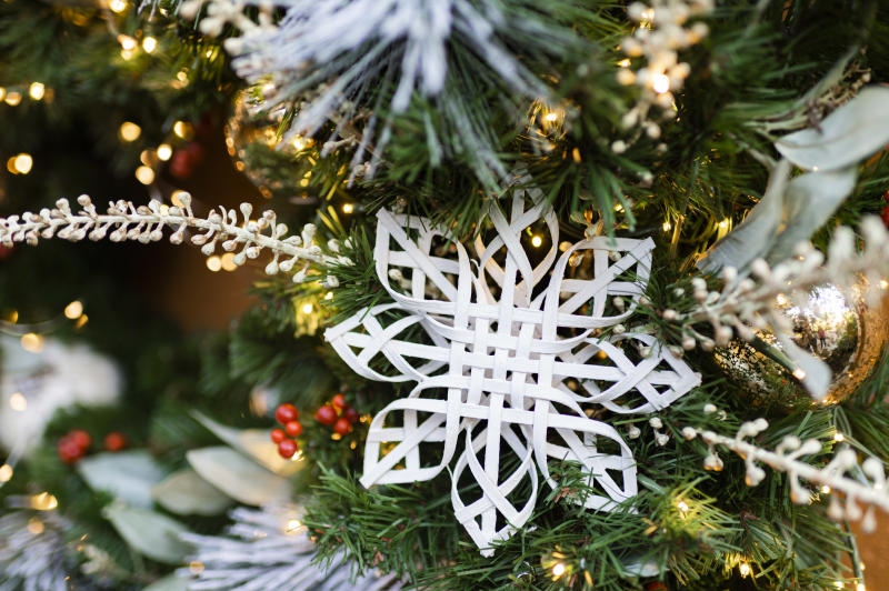 The handcrafted snowflakes will be featured at the Walt Disney World Resort during the holidays. (Photo: Disney)