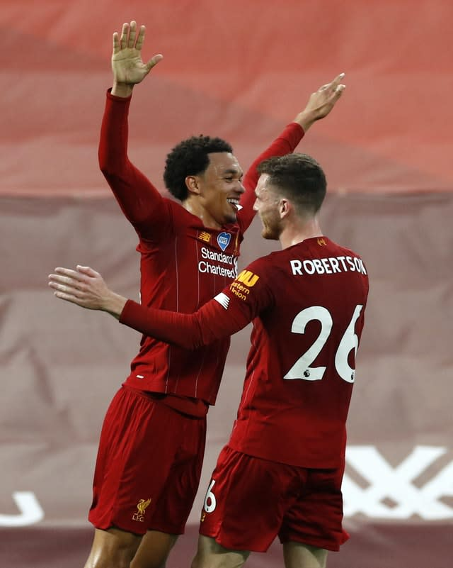 Players such as Trent Alexander-Arnold (left) and Andy Robertson (right) will report for international duty next week