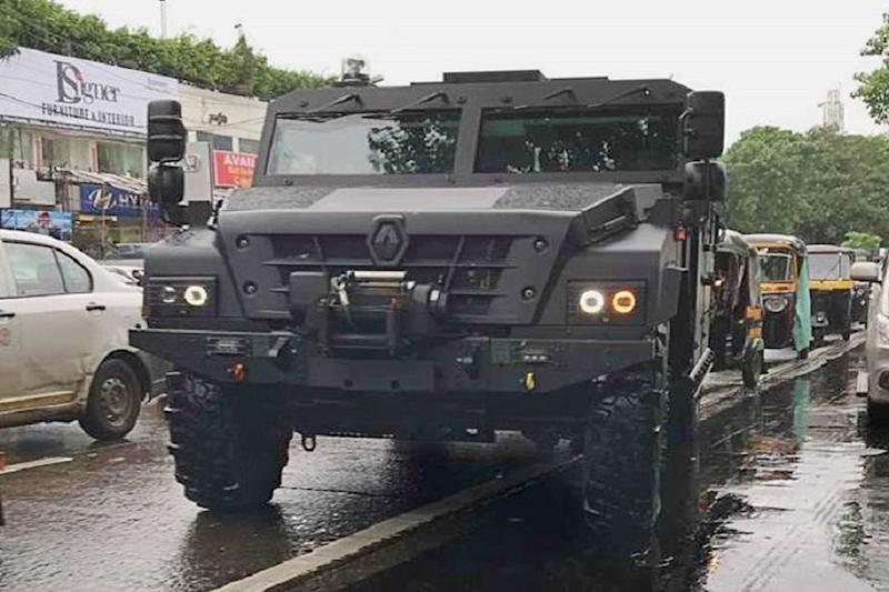 Renault Sherpa Armoured Military Vehicle Serving NSG Spotted in Mumbai