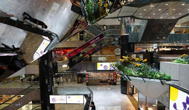 The Silvercord shopping centre in Tsim Sha Tsui stands largely empty during the third wave of coronavirus infections. Photo: Sam Tsang
