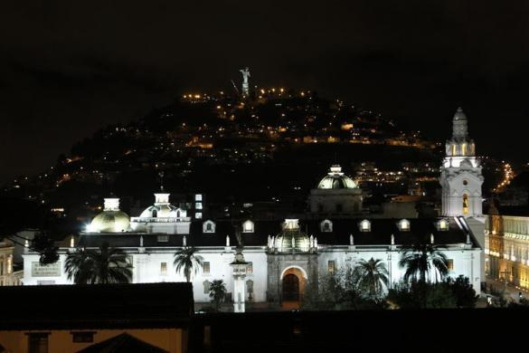 A view shows the historic center in downtown Quito April 12, 2012.