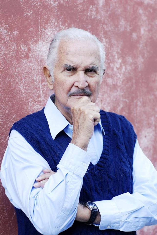 AIX EN  PROVENCE, FRANCE - OCTOBER 16. Mexican writer Carlos Fuentes poses during a portrait session held on October 15, 2011 in Aix en Provence, France. (Photo by Ulf Andersen/Getty Images)