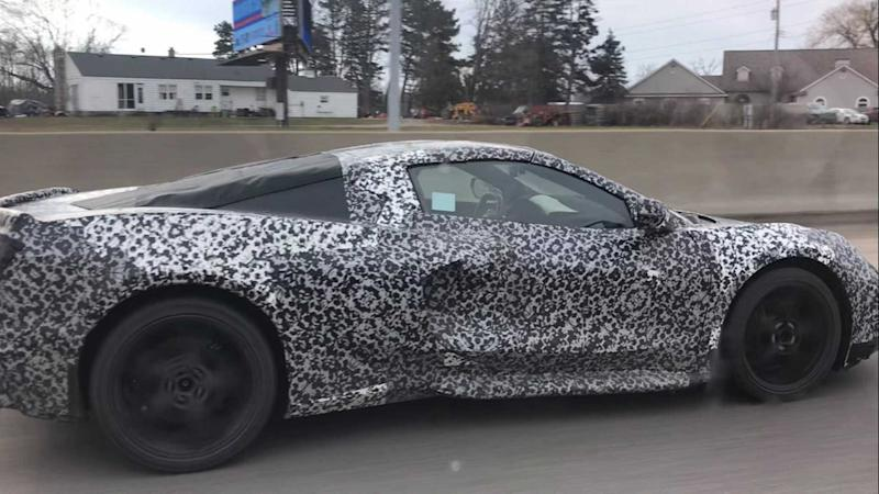 Mid-Engined Corvette Spied