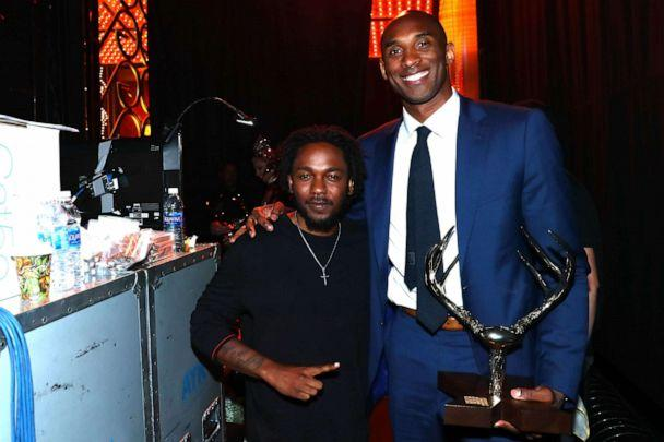 PHOTO: Recording artist Kendrick Lamar (L) and Athlete of the Decade honoree Kobe Bryant attend Spike TV's 10th Annual Guys Choice Awards at Sony Pictures Studios on June 4, 2016, in Culver City, Calif. (Mark Davis/Getty Images for Spike TV, FILE)