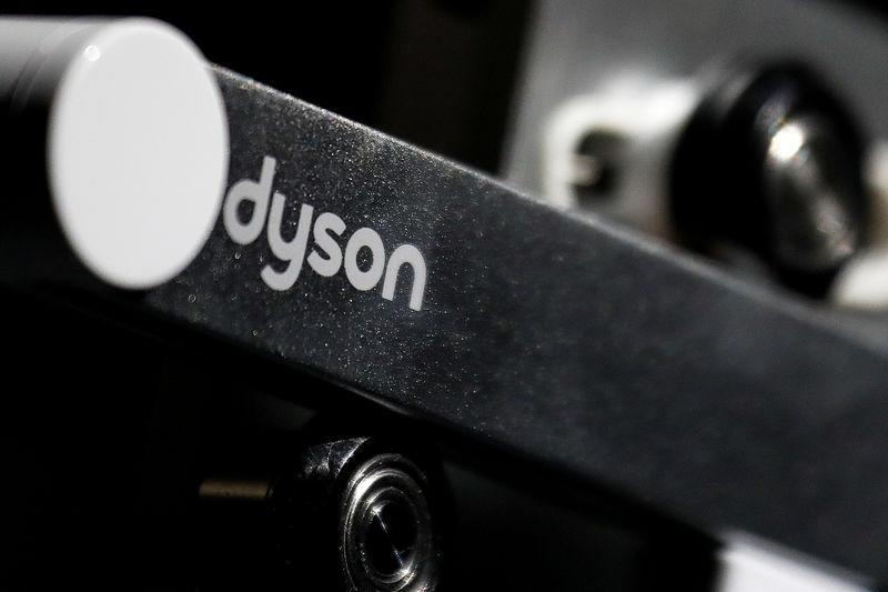 FILE PHOTO: Dyson logo is seen on one of company's products presented during an event in Beijing