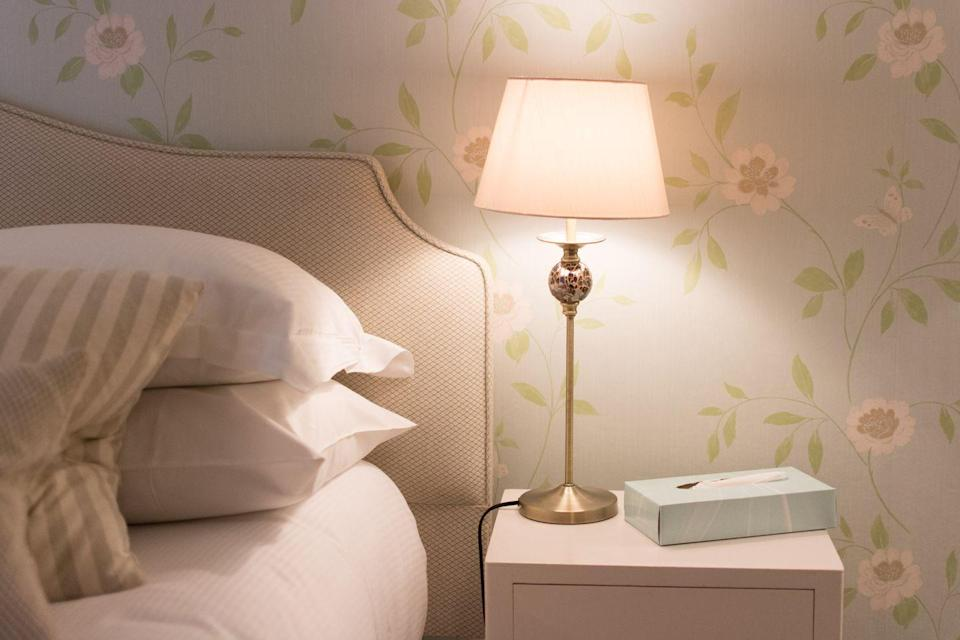 <p>Bright lights first thing in the morning will shut off your brain's melatonin release, signaling it's time to wake up, says Gillespie. Either have a light near the bed, or be ready to grab your phone and look at it on a bright setting, she suggests. Not only will that help you wake up faster, but she says that it will also make it easier for you to fall asleep at night.</p>