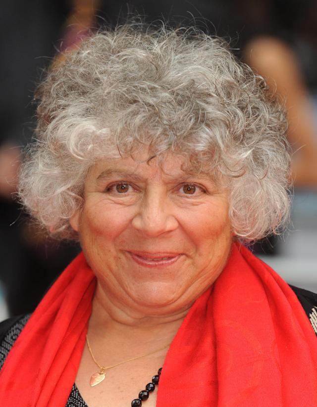 Miriam Margolyes attends the premiere of <em>Harry Potter and the Half-Blood Prince</em>. (rune hellestad/Corbis via Getty Images)