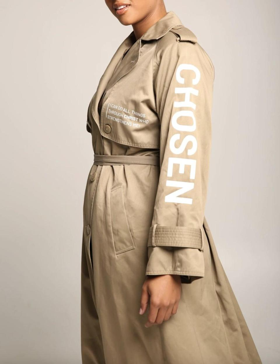 <p>Neutrals are always in, and this effortlessly cool and edgy <span>Sponsored By God Oversized Trench Coat</span> ($220) will be your best friend all season long.</p>