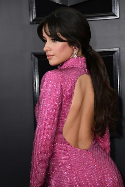US-Cuban singer-songwriter Camila Cabello sparkled in a backless pink Armani gown