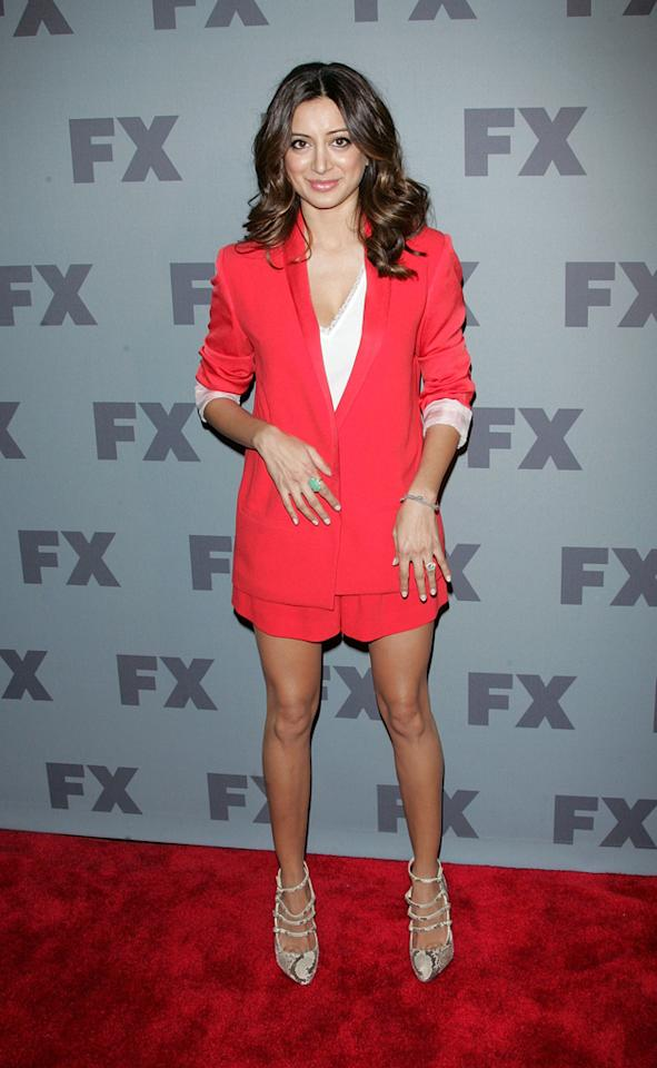 """Noureen DeWulf (""""<a href=""""http://tv.yahoo.com/anger-management/show/48408"""">Anger Management</a>"""") attends FX's 2012 Upfronts at Lucky Strike on March 29, 2012 in New York City."""