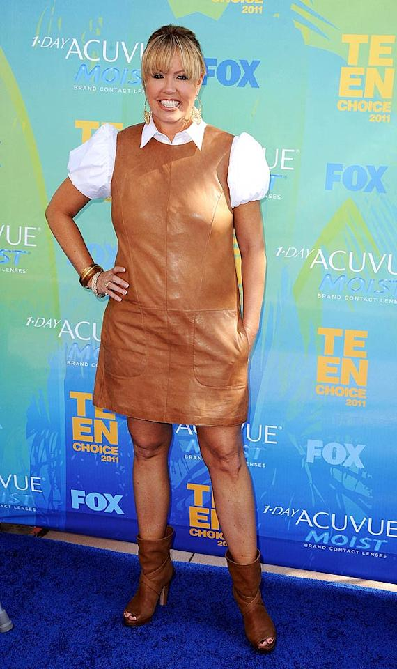 """Also at the Teen Choice Awards ... """"So You Think You Can Dance"""" judge Mary Murphy, who apparently """"thinks"""" she can get away with wearing this. Needless to say, she won't be on the Hot Tamale Train for this train wreck. Steve Granitz/<a href=""""http://www.wireimage.com"""" target=""""new"""">WireImage.com</a> - August 7, 2011"""