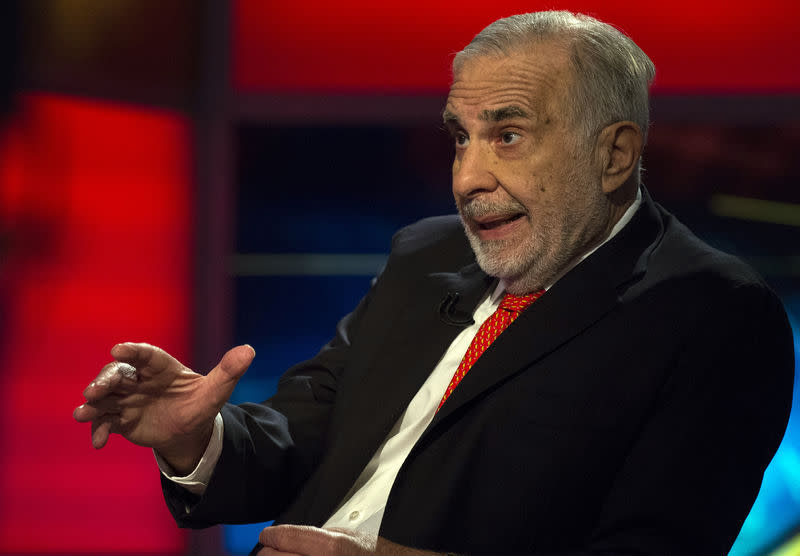 FILE PHOTO - Carl Icahn gives an interview on FOX Business Network's Neil Cavuto show in New York