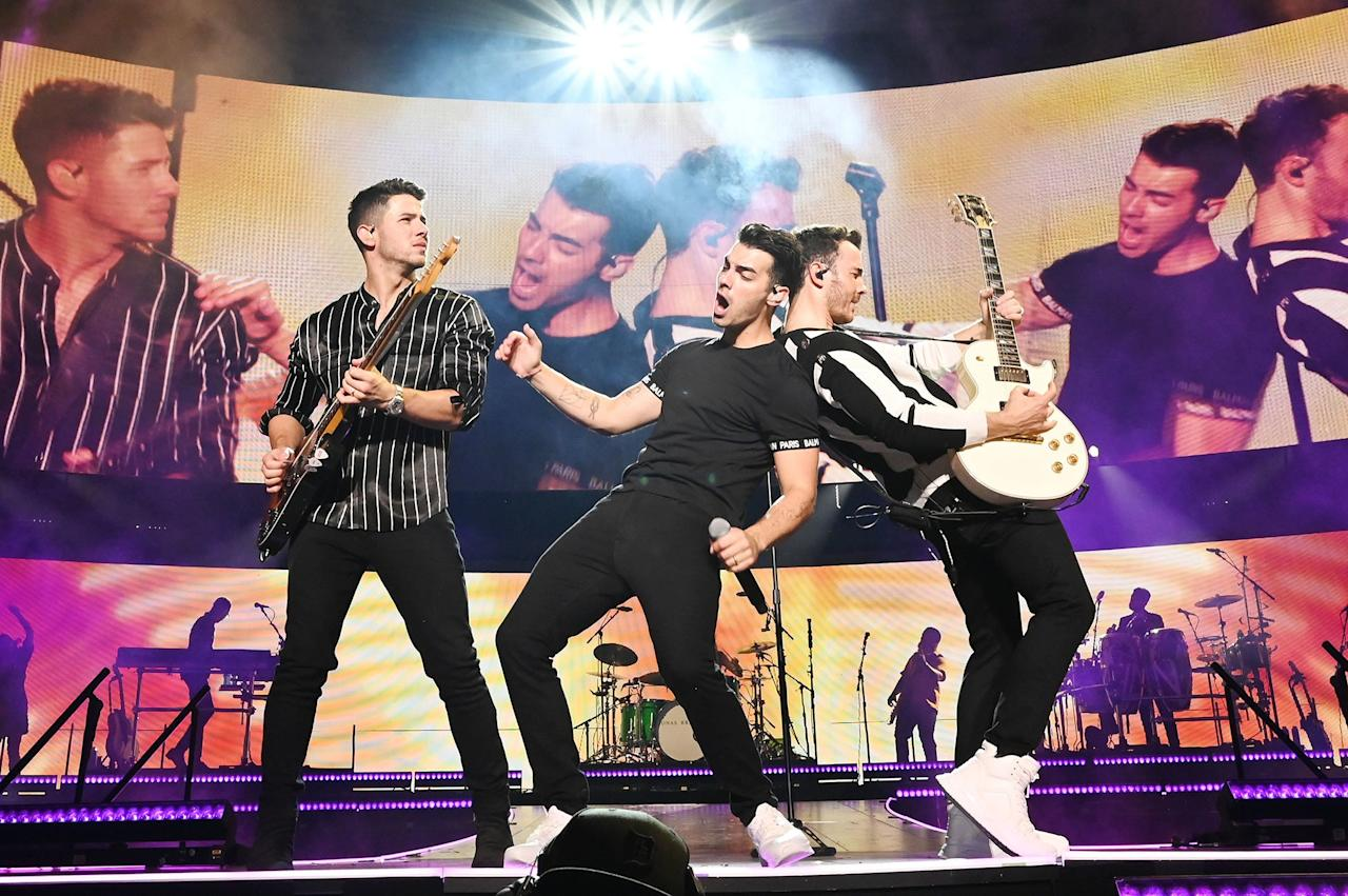 Nick, Joe and Kevin Jonas close out their string of Happiness Begins tour stop shows at Madison Square Garden in New York City on Friday.