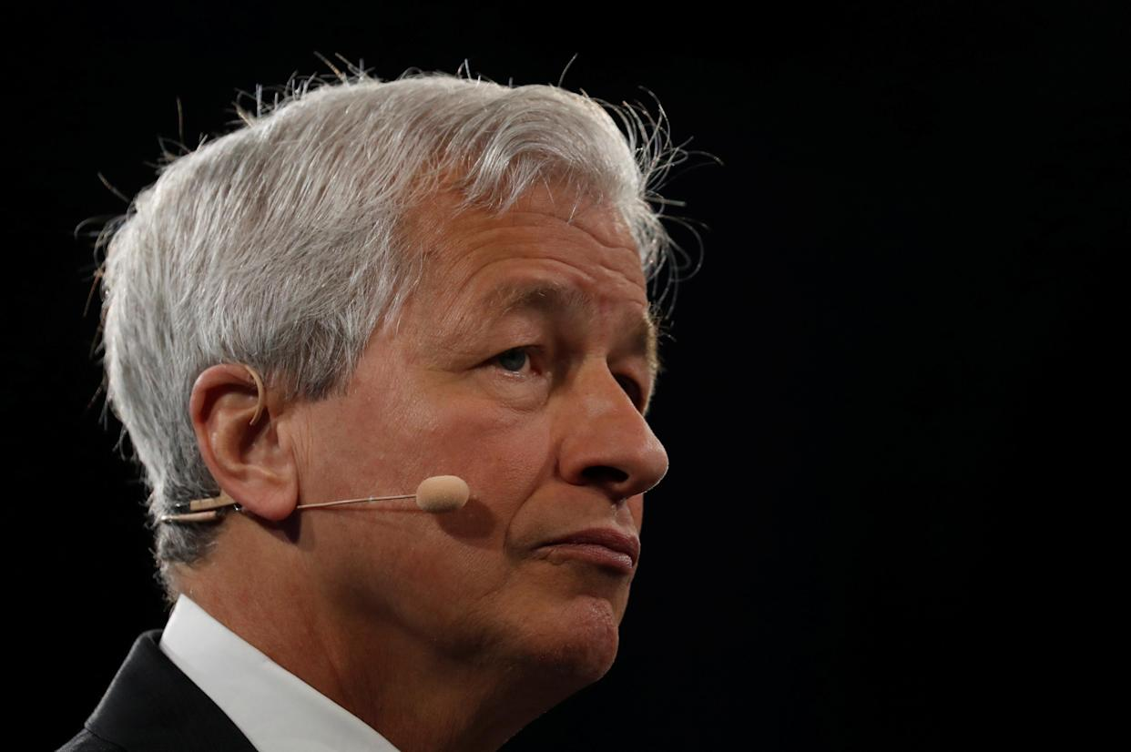 Jamie Dimon, chairman & CEO of JP Morgan Chase & Co., speaks during the Bloomberg Global Business Forum in New York City, New York, U.S., September 25, 2019. REUTERS/Shannon Stapleton