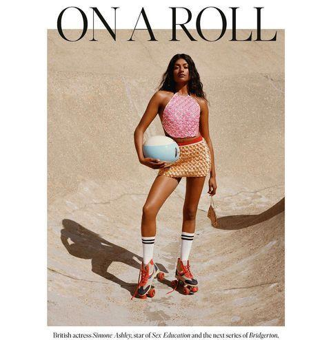 """<p>In a shoot for The FT's How To Spend It, Simone is all dressed up as a rollerskating dreamgirl. How cool is the varsity style jersey?</p><p><a href=""""https://www.instagram.com/p/COSvMyjnm2w/"""" rel=""""nofollow noopener"""" target=""""_blank"""" data-ylk=""""slk:See the original post on Instagram"""" class=""""link rapid-noclick-resp"""">See the original post on Instagram</a></p>"""