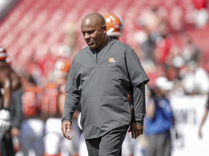 Hue Jackson said he was lied to by ownership of the Cleveland Browns while he served as their head coach. (Don Juan Moore/Getty Images)